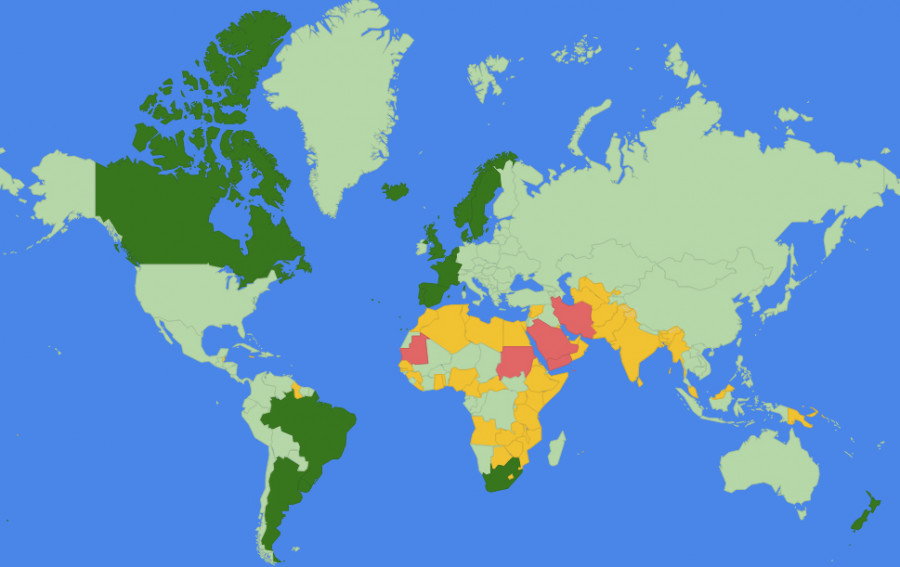 Democracies Around The World Lgbt Rights Around The World