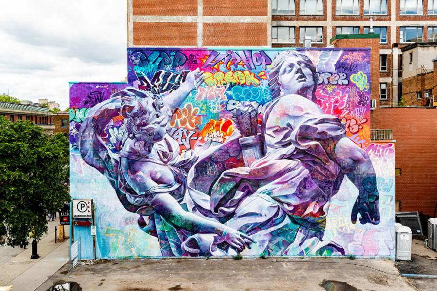 Spanish Urban Art Duo Pichiavo Brings Greek Mythology To Mural